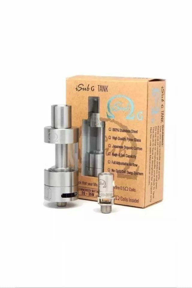 Innokin | iSub G Tank | iSubG | + 2 coils included | includes Replacement  Glass